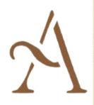 Large simple script alphabet wall stencil template capital letter a