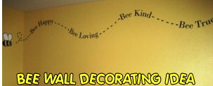 Cute Vinyl Bee Wall Stickers Decals Beehive Honey Bumble