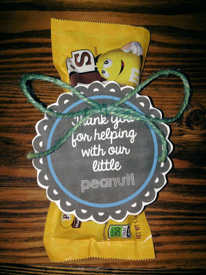Free printable label download for M&Ms goodie bag gifts