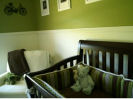 vintage baby boy bicycle green lime olive nursery theme ideas decorating painting baby bedding crib