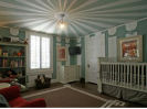 vintage baby blue and antique white boy nursery theme ideas decorating painting ceiling circus color paint