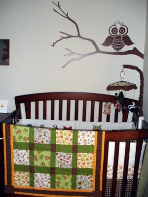 OWL Love You Forever Baby Boy!  Homemade owl baby bedding and nursery decor