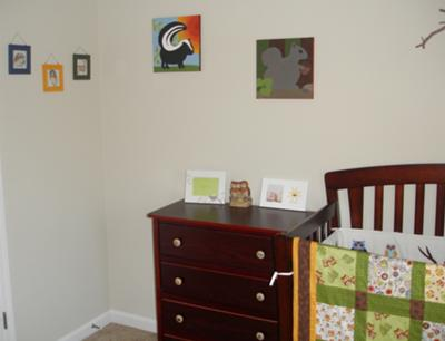 Some of the owl theme artwork and crafts that I painted for my baby boy's nursery room.