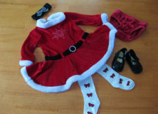 baby girl christmas clothes outfits outfit red black velvet