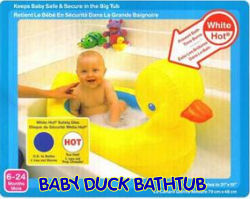 pink yellow blue baby duck ducky bathtub