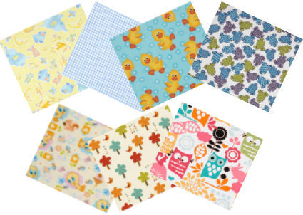 Soft cotton baby flannel in cute patterns for baby blankets and clothes