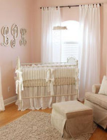 Vintage Theme Pink Baby Girl Nursery Design Ideas
