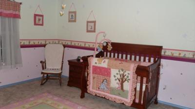 Winnie the Pooh English Garden Nursery for Our Baby Girl