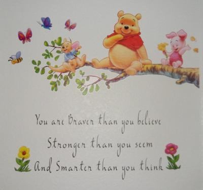 Inspirational Winnie the Pooh Quote on Our Baby Girl's Nursery Wall