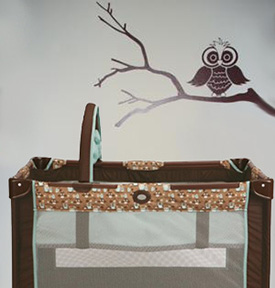 Graco Hoot unisex owl theme baby play yard