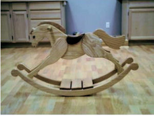 Homemade Palomino Baby Rocking Horse Woodworking Plans
