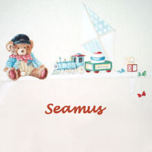 A baby boy teddy bear theme nursery room