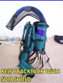 kelty baby backpack sun infant shade rain protection