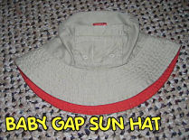 boys baby gap khaki sun protection hat