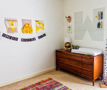 DIY crafts ideas for a baby girl nursery or kids room