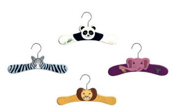 Baby wild zoo jungle animals clothes and coat hangers