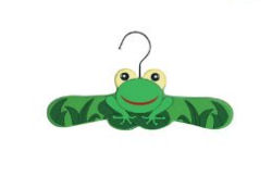 green frog baby clothes hangers for a froggy pond nursery theme closet