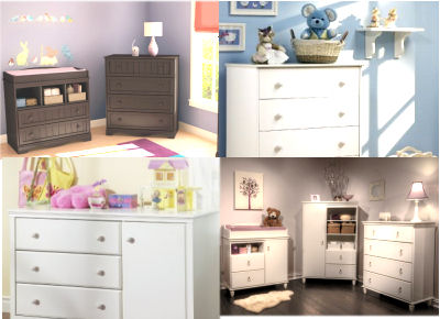 Combo baby dressers and changers