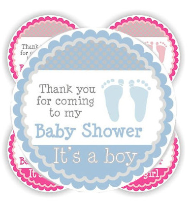 baby footprint shower invitation homemade invitations blue pink unique