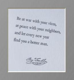 Benjamin Franklin motivational inspirational baby boy nursery wall quote saying