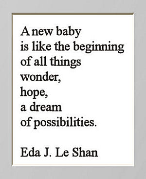 Inspirational baby quote about hopes and dreams