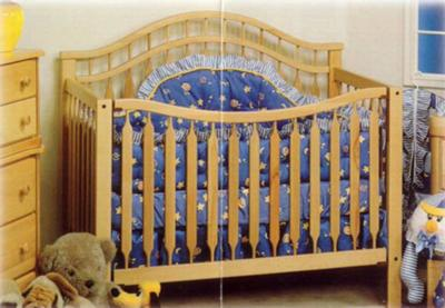 This is a picture of an assembled Baby's Dream Eternity Crib