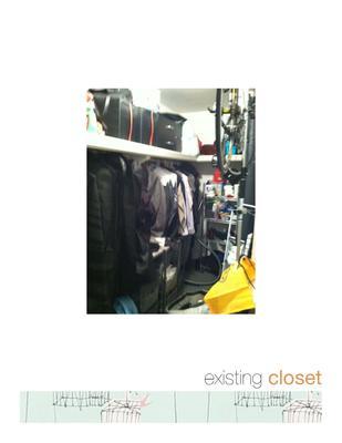 Existing walk in closet