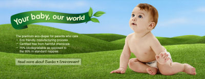 Bambo Eco-Friendly Premium Disposable Baby Diapers Are Soft, Absorbent and Designed Not to Irritate Your Baby's Sensitive Skin