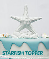 beach shower theme cake decorating ideas