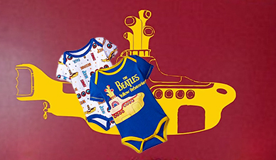Beatles Yellow Submarine baby onesie vinyl nursery wall decals decoration
