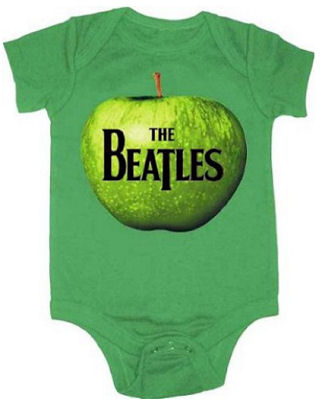 Apple Green Baby Beatles Onesie Romper Outfit