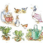 Beatrix Potter bunny rabbit baby nursery wall stickers and decals for a girls room theme