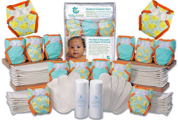 Save money by purchasing a complete newborn cloth diaper set