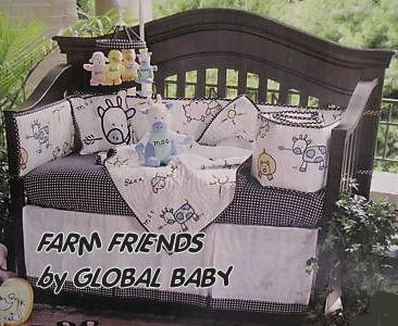 black and white baby crib nursery bedding sets polka dots stripes pink green yellow