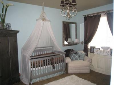 Baby Brandon's Blue and Brown Nursery Decor
