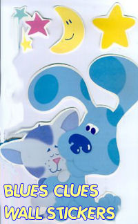 blues clues wall stickers decorations