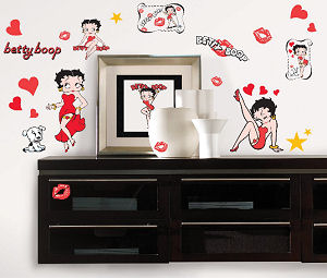 Baby Betty Boop Wall Stickers and Decals for Kids' Bedrooms the baby's nursery room and automobiles