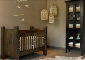 Rustic masculine baby boy nursery theme ideas
