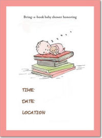 bring a book baby shower invitations invitation template invites cards announcements baby girl boy neutral