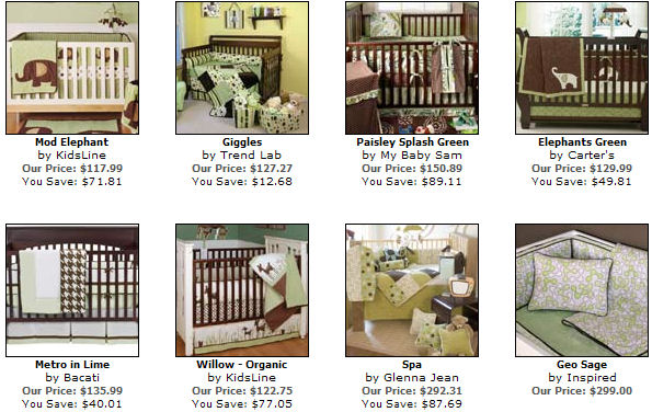 Sage And Brown Baby Bedding Nursery Green Sets