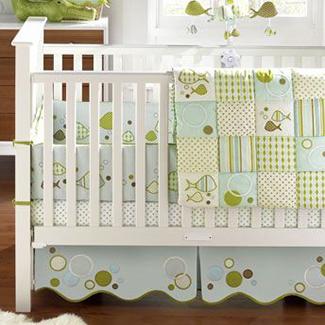 Migi Splish Splash Blue Whale Baby Boy Nursery Crib