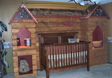 Our Baby Boy's Rustic Log Cabin Nursery Theme