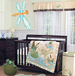 Frog pond bug baby nursery theme décor ideas