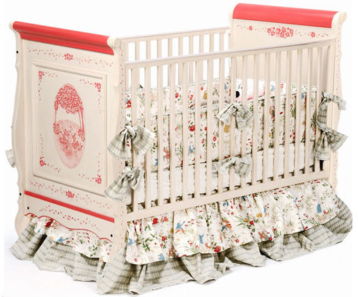custom painted bunny rabbit baby crib elegant unique designer