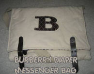 burberry diaper messenger bag baby diaper tote quilted plaid monogram nova checks boy girl