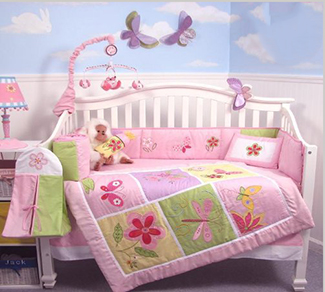 Pink and white baby girl butterfly nursery ideas