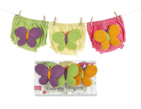 Baby girl butterfly theme diaper cover clothesline baby shower gifts