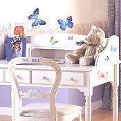 Butterflies baby nursery wall stickers and decals for a butterfly theme girls room