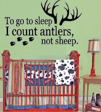 Modern Realtree Mossy Oak camouflage baby nursery with camo wallpaper