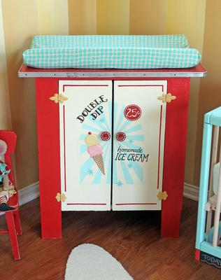 Ice Cream Cart Changing Table